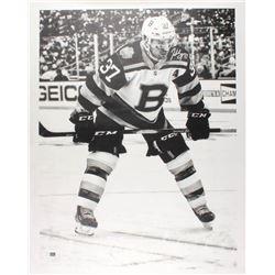 Patrice Bergeron Signed Boston Bruins 34x43.5 Print on Canvas (Bergeron COA)