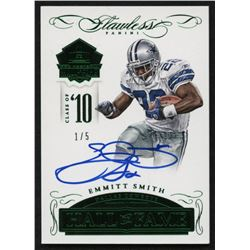 2015 Panini Flawless Hall of Fame Autographs Emerald #HOFES Emmitt Smith #1/5