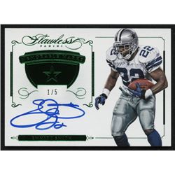 2015 Panini Flawless Memorable Marks Emerald Autograph #MMES Emmitt Smith #1/5
