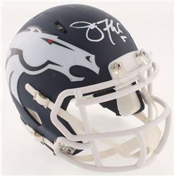 Joe Flacco Signed Denver Broncos AMP Alternative Mini Helmet (JSA COA)