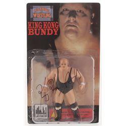 King Kong Bundy Signed WWF Wrestling Figurine (PSA COA)