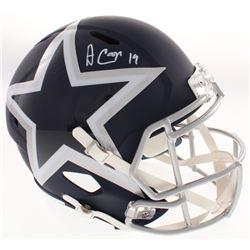 Amari Cooper Signed Dallas Cowboys AMP Alternate Full-Size Speed Helmet (JSA COA)