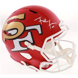 Frank Gore Signed San Francisco 49ers AMP Alternate Full-Size Speed Helmet (Beckett COA)