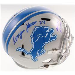 "Kerryon Johnson Signed Detroit Lions Full-Size Speed Helmet Inscribed ""Motown's Finest!"" (Radtke COA"
