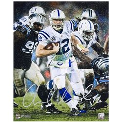 """Andrew Luck Signed Indianapolis Colts """"Downpour"""" 16x20 LE Photo (Panini COA)"""
