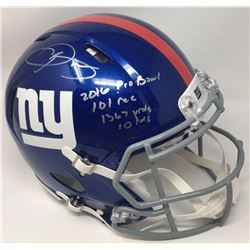 """Odell Beckham Jr. Signed New York Giants LE Full-Size Authentic On-Field Speed Helmet Inscribed """"201"""