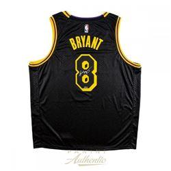 Kobe Bryant Signed Los Angeles Lakers City Edition Black Jersey (Panini COA)