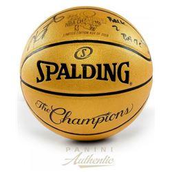 "Kevin Durant Signed 2018 NBA Champtions LE Spalding Basketball Inscribed ""Back 2 Back"" (Panini COA)"