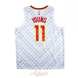 "Trae Young Signed Atlanta Hawks LE Jersey Inscribed ""True to ATL"" (Panini COA)"