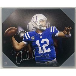 Andrew Luck Signed Indianapolis Colts 16x20 LE Photo on Canvas (Panini COA)