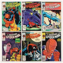 """Consecutive Lot of (6) 1988 """"The Amazing Spider-Man"""" Marvel Comic Books with #304-#309"""