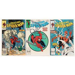"""Consecutive Lot of (3) 1988 """"The Amazing Spider-Man"""" Marvel Comic Books with #301-#303"""