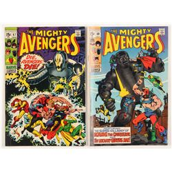 """Lot of (2) 1969 """"The Mighty Avengers"""" Marvel Comic Books with #67  #69"""