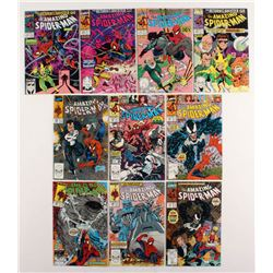 """Consecutive Lot of (10) 1990 """"The Amazing Spider-Man"""" Marvel Comic Books with #328-#337"""