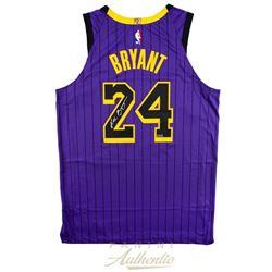 Kobe Bryant Signed Los Angeles Lakers 2019 City Edition Black Jersey (Panini COA)