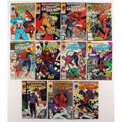 """Consecutive Lot of (11) 1989 """"The Amazing Spider-Man"""" Marvel Comic Books with #317-#327"""