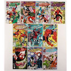 "Consecutive Lot of (10) 1990-91 ""The Amazing Spider-Man"" Marvel Comic Books with #338-#347"