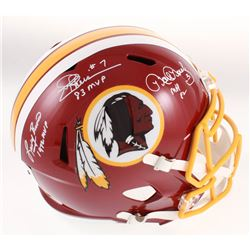 Mark Moseley, Joe Theismann  Larry Brown Signed Washington Redskins Full-Size Speed Helmet with (3)