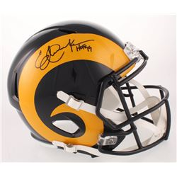 "Eric Dickerson Signed Los Angeles Rams Color Rush Full-Size Speed Helmet Inscribed ""HOF 99"" (Beckett"