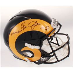 "Steven Jackson Signed St. Louis Rams Full-Size Authentic On-Field Speed Helmet Inscribed ""3,683 Rec."