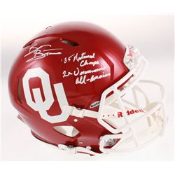 "Brian Bosworth Signed Oklahoma Sooners Full-Size Authentic On-Field Speed Helmet Inscribed ""'85 Nati"