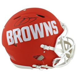 Odell Beckham Jr. Signed Cleveland Browns Full-Size Authentic On-Field AMP Alternate Speed Helmet (B