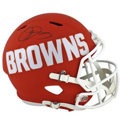 Odell Beckham Jr. Signed Cleveland Browns Full-Size AMP Alternate Speed Helmet (Beckett COA)