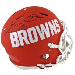 Odell Beckham Jr.  Jarvis Landry Signed Cleveland Browns Full-Size Authentic On-Field AMP Alternate