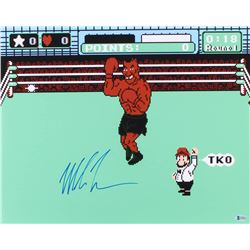 """Mike Tyson Signed """"Punch-Out!!"""" 16x20 Photo (Beckett Hologram)"""