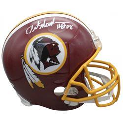 """Art Monk Signed Washington Redskins Full-Size Helmet Inscribed """"HOF 08"""" (Beckett COA)"""