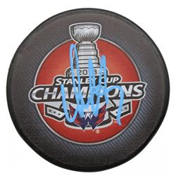 Alexander Ovechkin Signed Washington Capitals 2018 Stanley Cup Champions Logo Hockey Puck (Beckett C