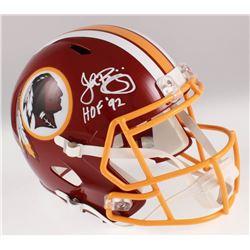 "John Riggins Signed Washington Redskins Full-Size Speed Helmet Inscribed ""HOF '92"" (JSA COA)"