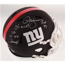 "Lawrence Taylor Signed New York Giants Full-Size Matte Black Speed Helmet Inscribed ""SB XXI XXV Cham"