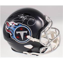 Eddie George Signed Tennessee Titans Full-Size Speed Helmet (Beckett COA)