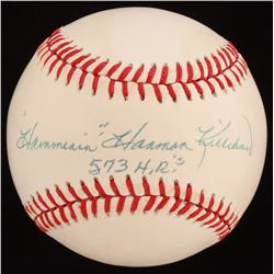 """Hammerin' Harmon"" Killebrew Signed OAL Baseball Inscribed ""573 H.R.'s (JSA COA)"