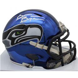 Brian Bosworth Signed Seattle Seahawks Chrome Speed Mini Helmet (Beckett COA)