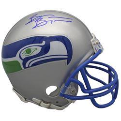 Brian Bosworth Signed Seattle Seahawks Throwback Mini Helmet (Beckett COA)