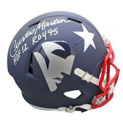 "Curtis Martin Signed New England Patriots Full-Size AMP Alternate Speed Helmet Inscribed ""HOF 12""  """