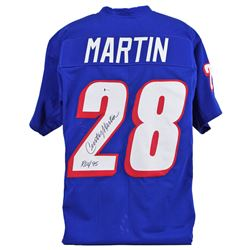 "Curtis Martin Signed Jersey Inscribed ""ROY 95"" (Beckett COA)"
