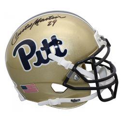 Curtis Martin Signed Pittsburgh Panthers Mini Helmet (Beckett COA)