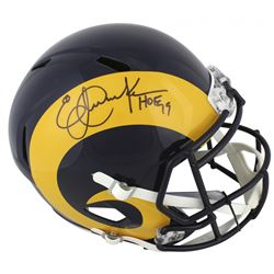 "Eric Dickerson Signed Los Angeles Rams Full-Size Speed Helmet Inscribed ""HOF 99"" (Beckett COA)"