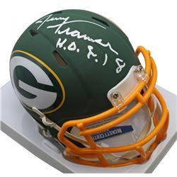 """Jerry Kramer Signed Green Bay Packers AMP Alternate Speed Mini Helmet Inscribed """"HOF 18"""" (Beckett CO"""