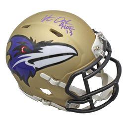 """Jonathan Ogden Signed Baltimore Ravens AMP Alternate Speed Mini Helmet Inscribed """"HOF 13"""" (Beckett C"""