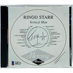 "Ringo Starr Signed ""Vertical Man"" CD Reproduction Booklet (Beckett LOA)"