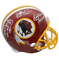 "Joe Theismann, Larry Brown,  Mark Moseley Signed Washington Redskins Full-Size Helmet Inscribed ""MVP"