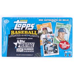 2008 Topps Heritage High Number Series Baseball Unopened Hobby Box with (24) Packs