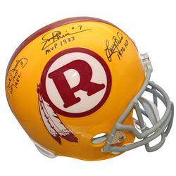 Joe Theismann, Larry Brown,  Mark Moseley Signed Washington Redskins Throwback Full-Size Helmet Insc