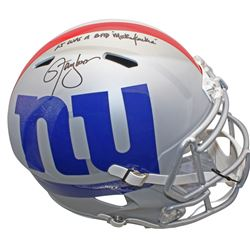 """Lawrence Taylor Signed New York Giants Full-Size AMP Alternate Speed Helmet Inscribed """"LT Was a Bad"""
