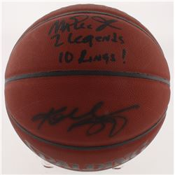 "Magic Johnson  Kobe Bryant Signed NBA Basketball Inscribed ""2 Legends""  ""10 Rings!"" (Beckett COA  PS"