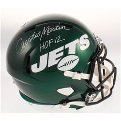 Curtis Martin Signed New York Jets Full-Size Speed Helmet (Beckett COA)